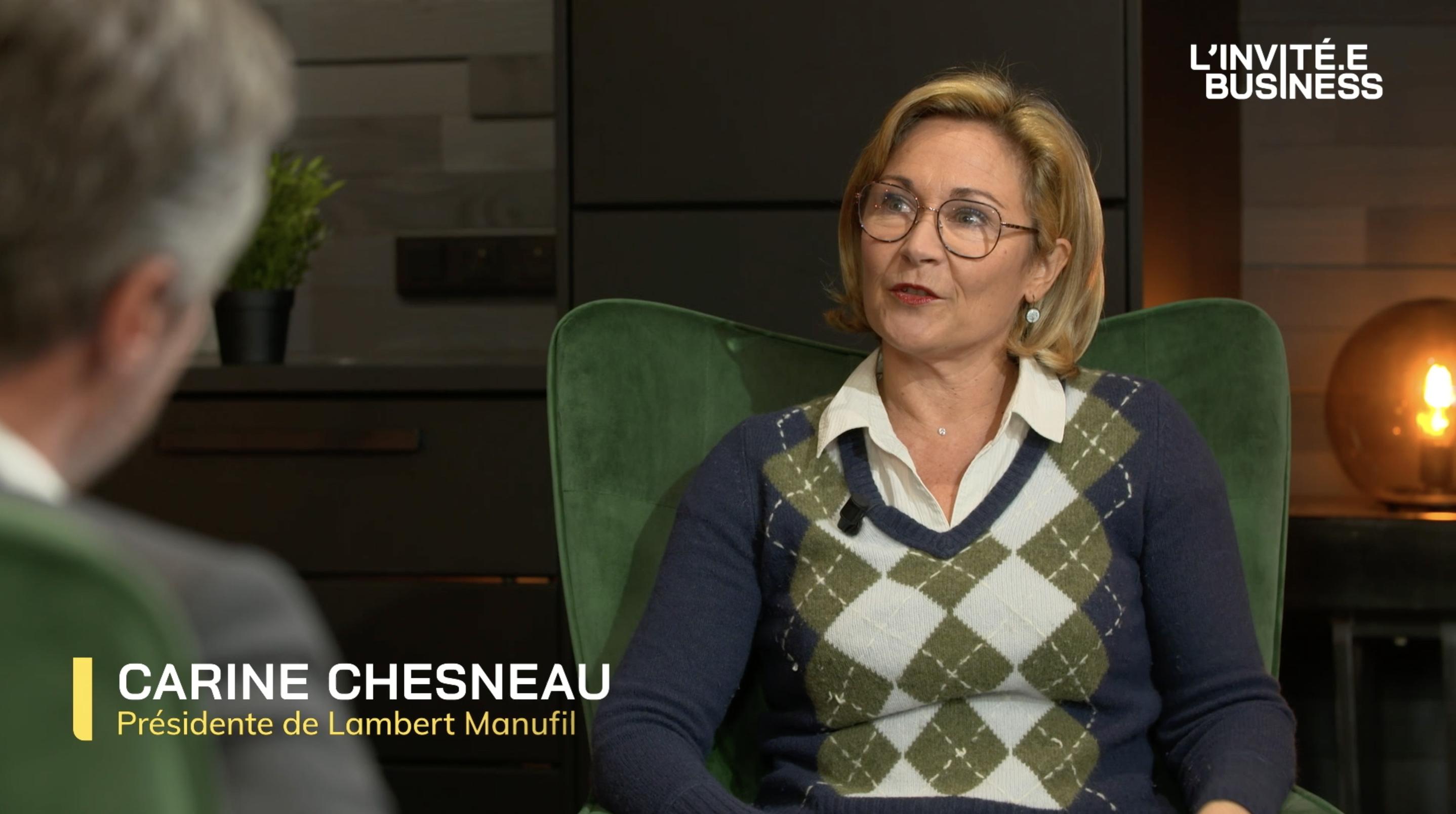 Carine Chesneau, Présidente de Lambert-Manufil